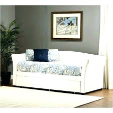 faux leather daybed with trundle wood white in black le