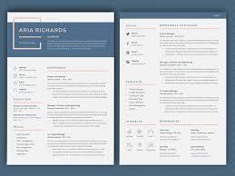 Richards Resume Modern Resume Aria By Resume Templates On Dribbble
