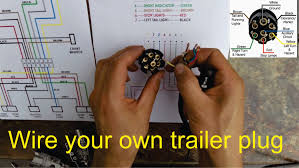 how to wire a trailer plug 7 pin (diagrams shown) youtube 7 blade trailer plug wiring diagram at 7 Plug Wiring Diagram