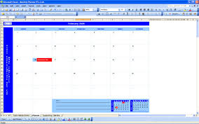 schedules template in excel monthly planner excel templates