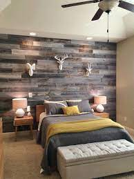 grey reclaimed wood wall for a rustic