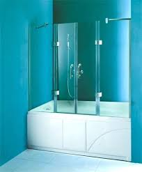 bath tub screen doors bathtub frameless x hinged 4 panel shower made of safety tempered glass frosted glass bath