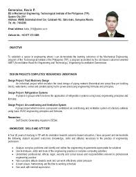 resume format for ojt resume example resume for applying sample resume  format for ojt accounting students