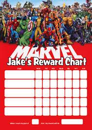 Personalised Marvel Superheroes Reward Chart Adding Photo Option Available