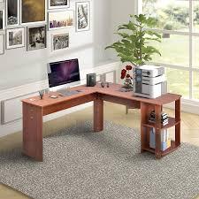 Light Oak Corner Computer Desk Amazon Com L Shaped Computer Desk With Side Storage
