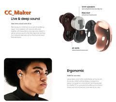 Tai Nghe Bluetooth Không Dây Chống Ồn Dùng Cho Samsung Galaxy Buds Live Sm-R180  - Tai nghe Bluetooth chụp tai On-ear