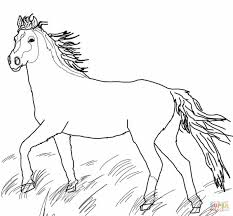 Printable Coloring Pages horse coloring pages to print for free : Mustang Wild Horse coloring page | Free Printable Coloring Pages