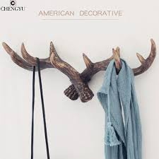 Door Hanging Coat Rack Aliexpress Buy American Style Retro Antlers Decorative Wall 79