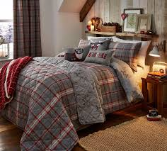 flannelette duvet cover set grey red silver 21 95