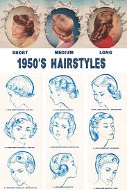 Hairstyle Names For Women 1950s hairstyles chart for your hair length glamourdaze 3480 by stevesalt.us