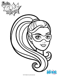 Small Picture Barbie super hero mask coloring pages Hellokidscom