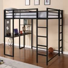 Nice Modern, Full Size, Metal Loft Beds For Adults With Desk