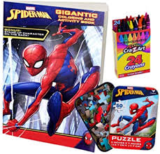 See more of spiderman and frozen elsa learn colors on facebook. Amazon Com Colorboxcrate Spider Man Far From Home Coloring Book Toy Set 3 Pack Includes Spiderman Coloring And Activity Book Spider Man Puzzle And Crayons For Children Ages 3 To 8 Toys Games