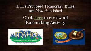 doi proposed and temporary rules