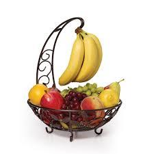 fruit basket with banana hanger  pfaltzgraff