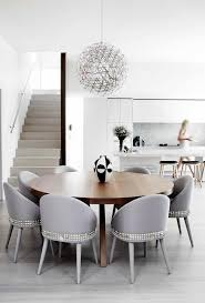 upholstered dining chair dining room contemporary with kitchen dining room white kitchen cabinets round dining