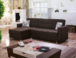 m dark brown leather sectional sofa