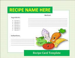 Food Recipe Template 8 Free Recipe Card Templates Itinerary Template Sample