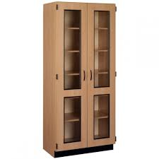 tall display cabinet with framed glass doors 36 w x 84 h x 23 d schoolsin