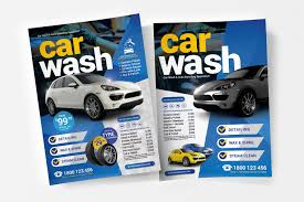 Car Dealership Flyer Templates A4 Car Wash Poster Template V2 Psd Ai Vector Brandpacks