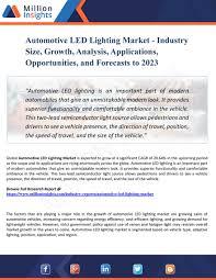 Led Lighting Sales Leads My Publications Automotive Led Lighting Market Industry