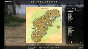 elder scrolls online  glenumbra treasure map i location  youtube