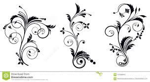 Vignette Design Black And White Vectore Curl Florish Vignette Stock Vector