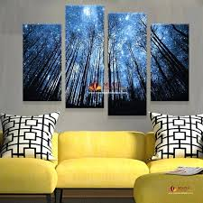 modern art for home 4 panels modern abstract canvas prints artwork beautiful starry sky canvas painting modern art