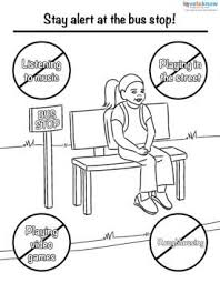 180779 275x355 Bus Safety Principles coloring page 1 bus safety printables on staying on topic worksheets
