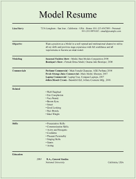 Modeling Resume Model Resume Modeling Resume Template Modeling Resume 24 Printable 2