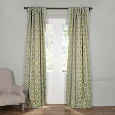 exclusive fabrics furnishings semi opaque secret garden leaf green blackout curtain 50 in