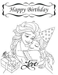 Happy Birthday Color Page Happy Birthday Coloring Pages Free