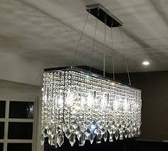 rectangle crystal chandelier new chrome 40 inch rectangular pertaining to amazing house rectangle crystal chandelier prepare