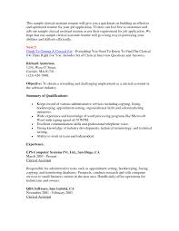 Cover Letter Sample Administrative Clerical Resume Sample Resume