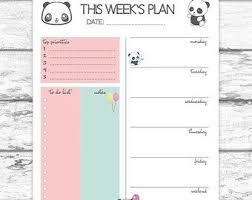 Cute Printable Weekly Planner Aesthetecurator Com