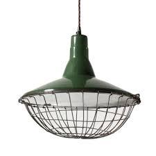 fantastic vintage green enamel porcelain light with
