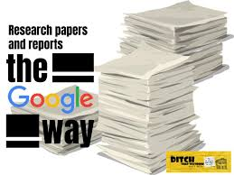 Paper Reports Writing Papers And Research Reports The Google Way Ditch
