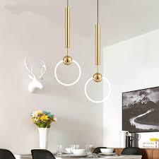 kronleuchter gros stig einzigartig gold t8 led ring chandelier circle ring light single head circline