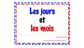 French Days Of The Week French Days Of The Week Mrs Scarbroughs Web Pages