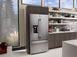 kitchenaid stainless steel counter depth french door