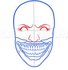 how to draw twisty the clown step 6