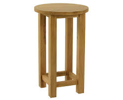 in stock essentials oak small round lamp table