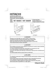 hitachi nr1890dr specification user