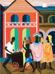 street vendors haiti 1978 painting by lois mailou jones lois mailou
