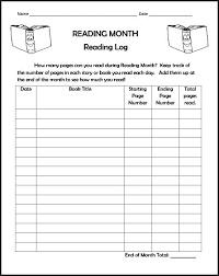 Reading Log Chart Chsh Teach Reading Charts Logs