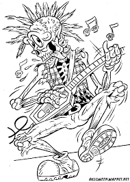 Small Picture Halloween Coloring Pages for Adults Skull Rock Coloring Pages