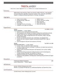 welding welder resumes unique welder resume google search resume examples