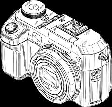 Small Picture digital camera black white line art Coloring Book Colouring Sheet