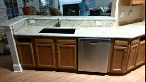 Colonial Cream Granite Kitchen Colonial Cream Granite Before And After Youtube