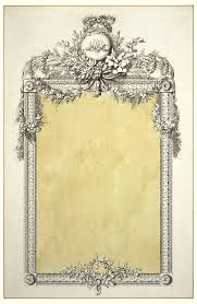 mirror frame drawing. Drawing, Design For A Mirror Frame With Monogram Of Marie-Antoinette Mirror Frame Drawing R